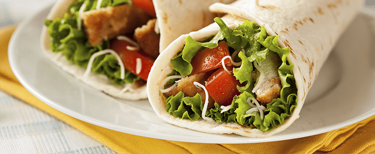 Lime & Lemongrass Chicken Wraps